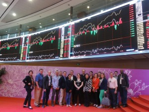 At the Shanghai Stock Exchange