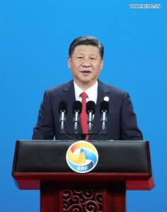 Xi Jinping speaks at the Belt and Road Forum for International Cooperation (BRF) in Beijing. (Photo: Xinhua)