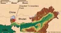India-China-Bhutan small
