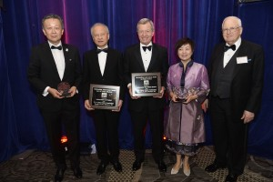 Gala honorees with dinner chair, J. Stapleton Roy (R)