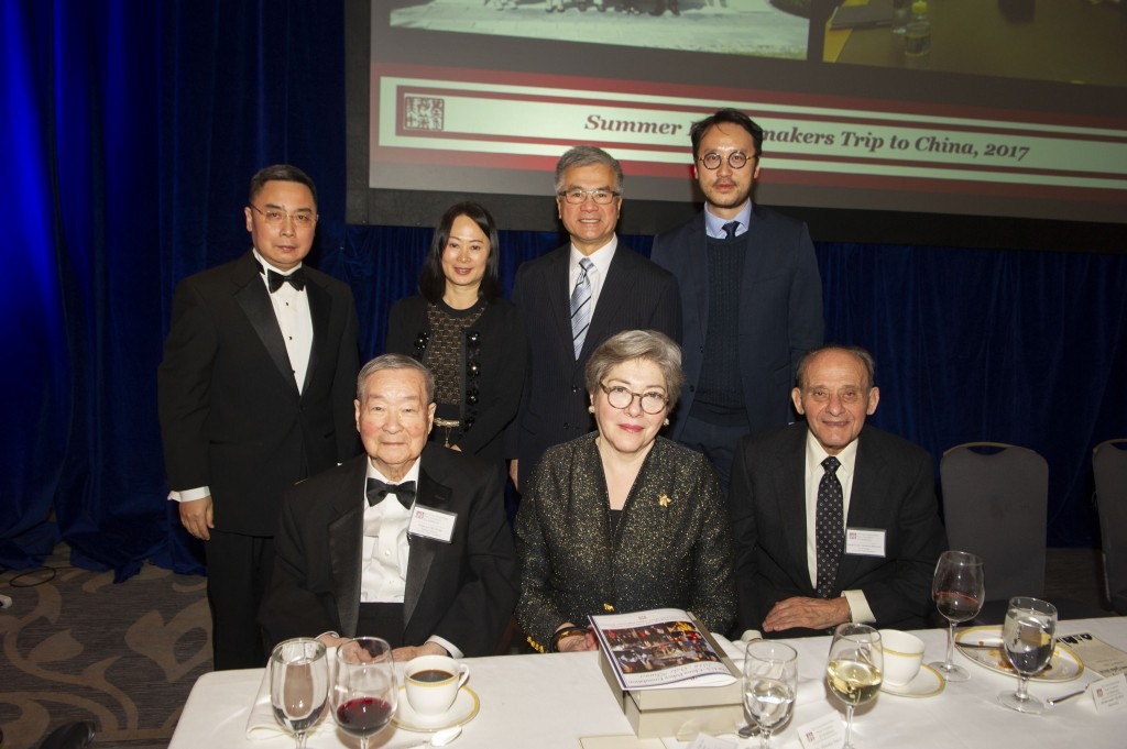Top L to R: DCM & Minister Li Kexin, Ms. Tammy Tam (SCMP), Amb. Gary Locke, Mr. Chow Cung Yan (SCMP). Bottom L to R: Dr. Chi Wang (USCPF), Ms. Florence Davis (The Starr Foundation), Amb. Herbert Horowitz (Photo by Max Taylor)