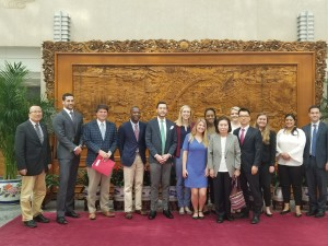 Participants at the Ministry of Foreign Affairs in Beijing